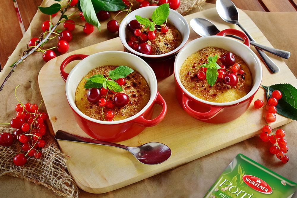 Crème brûlée Porridge, Crème brûlée
