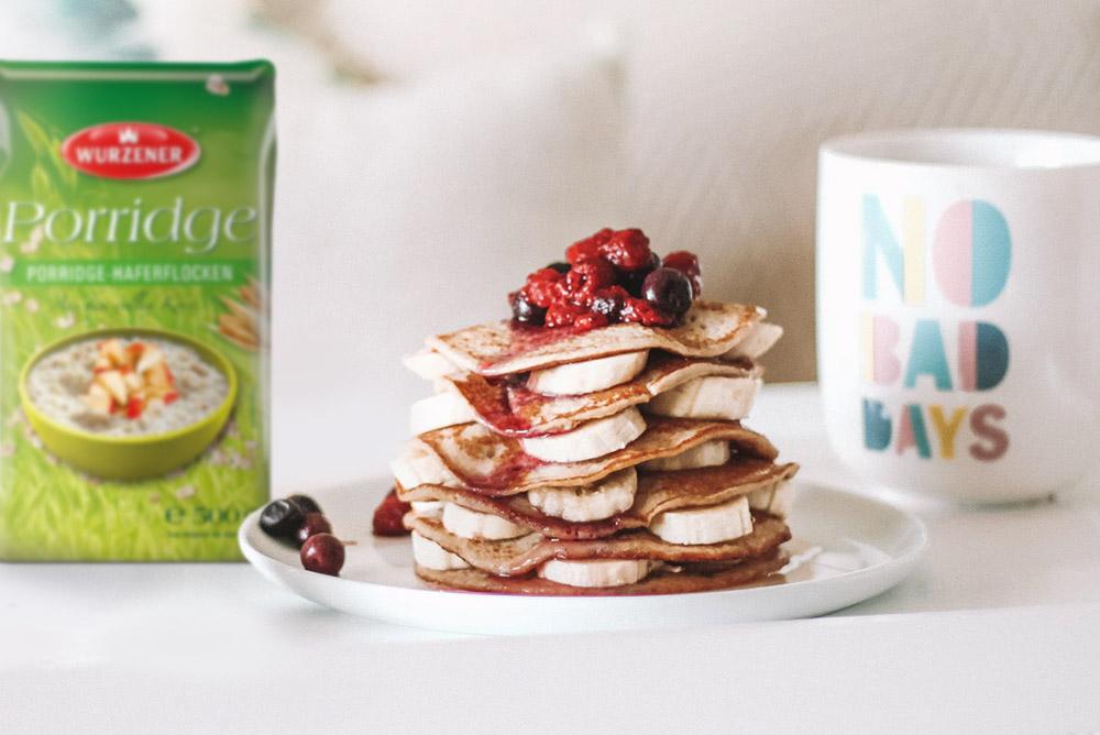 Porridge Pancakes Pfannkuchen, Porridge-Pancakes
